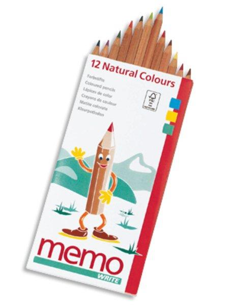 Pastelli colorati 12 pezzi Naturali