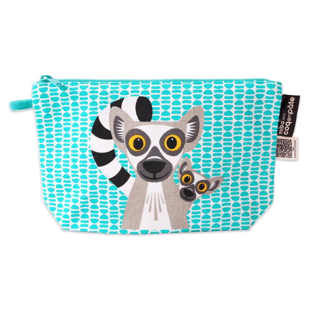 Pencil case Mibo Lemur in organic cotton