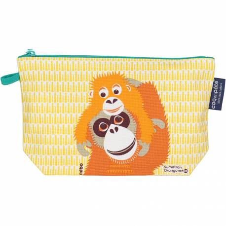 Pencil case Mibo Orangutans in organic cotton