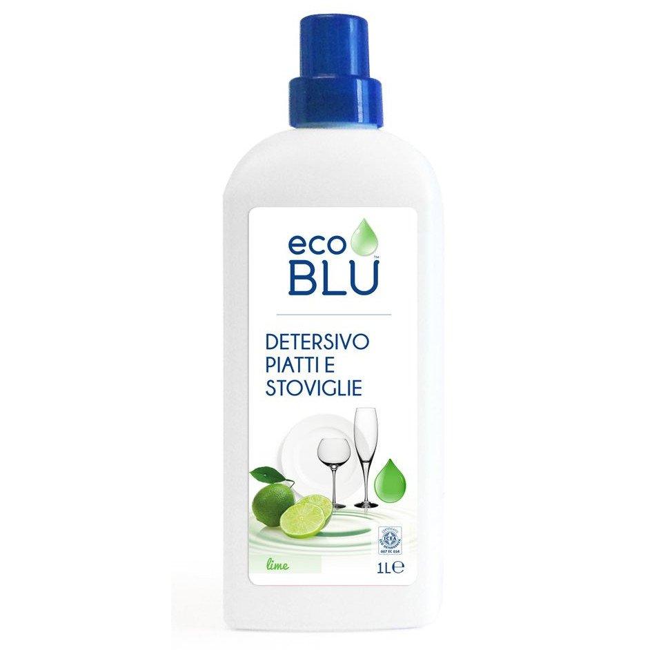 Detersivo Piatti e stoviglie al profumo di lime 1 litro EcoBlu