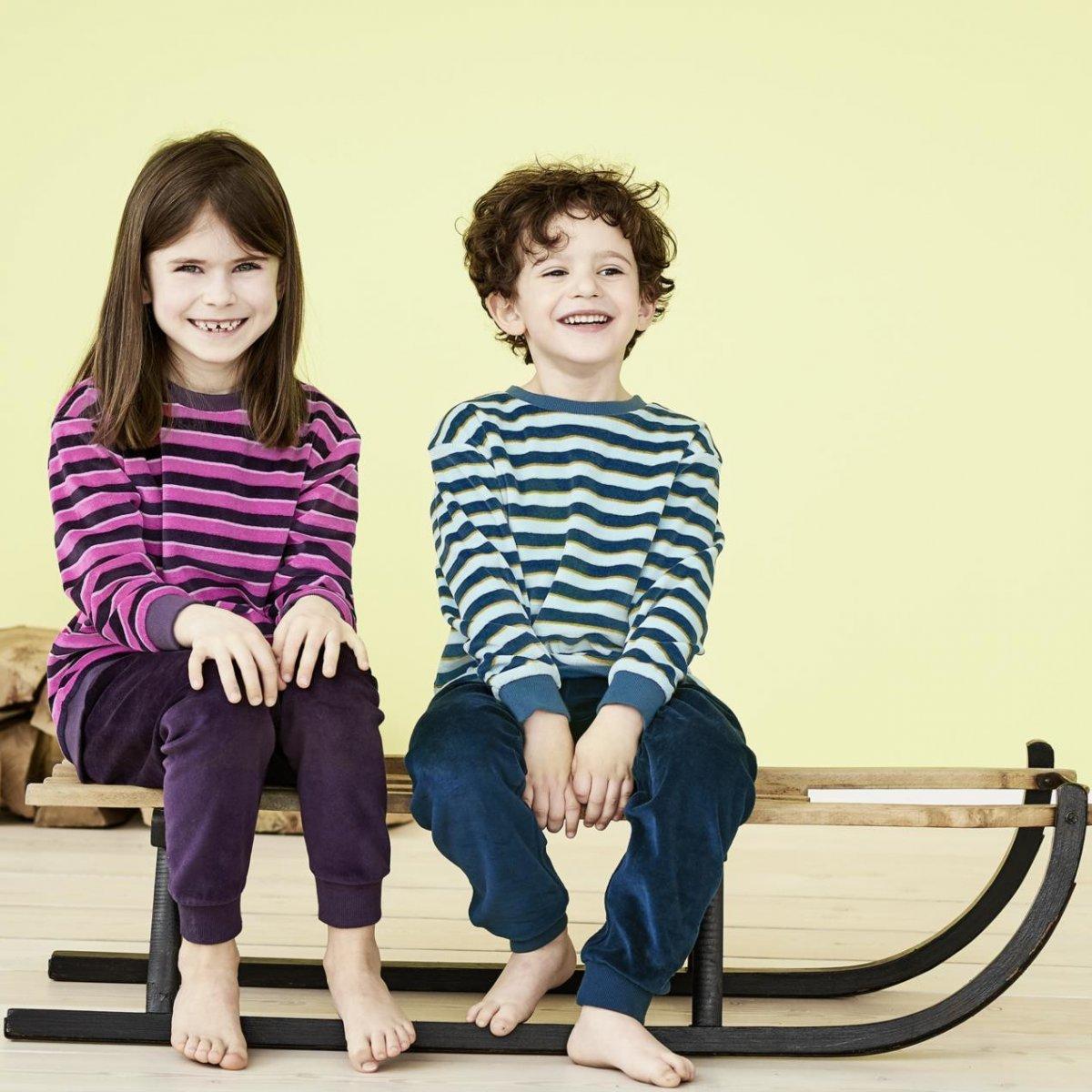 Pigiama bambini e ragazzi in ciniglia di cotone biologico