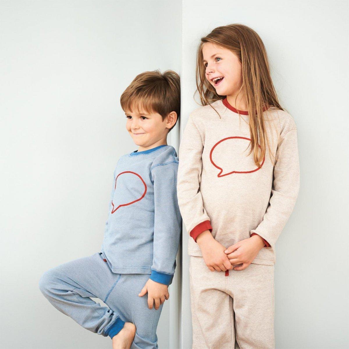 Pigiama bambini BeHappy in cotone biologico