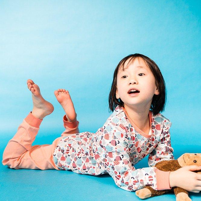 Pigiama Pesci per bambina in cotone biologico