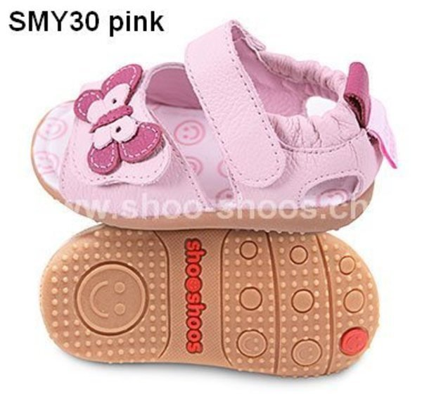 Pink toddler sandal with flexi sole in rubber