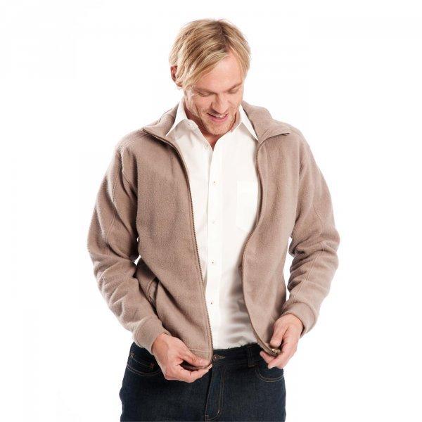Polar Fleece jacket with zip  in organic cotton