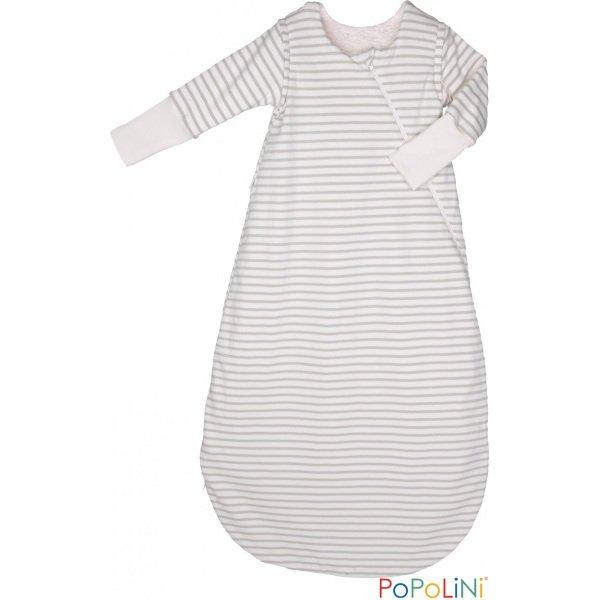 Popolini organic cotton plush sleeping bag with sleeve