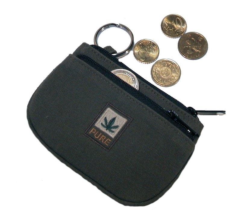Portamonete e chiavi in canapa