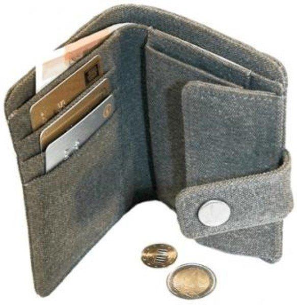 Portafoglio con bottone in canapa grande