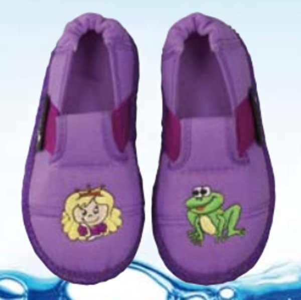 Princess and froggy slippers in organic cotton