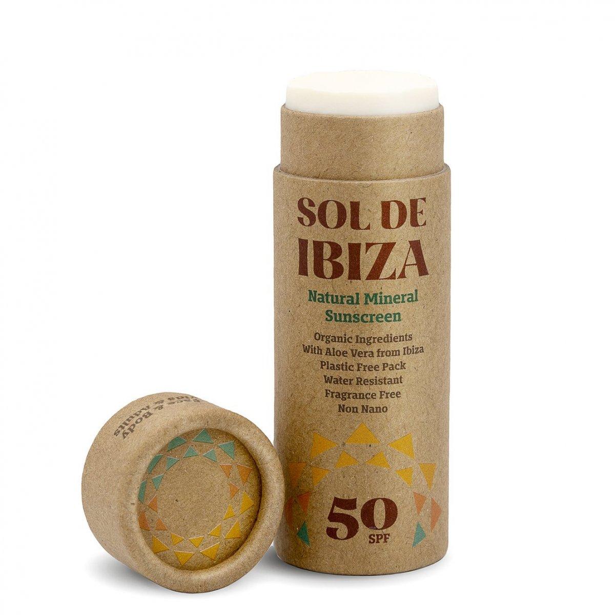 Protettore Solare Minerale Naturale SPF50 stick di cartoncino