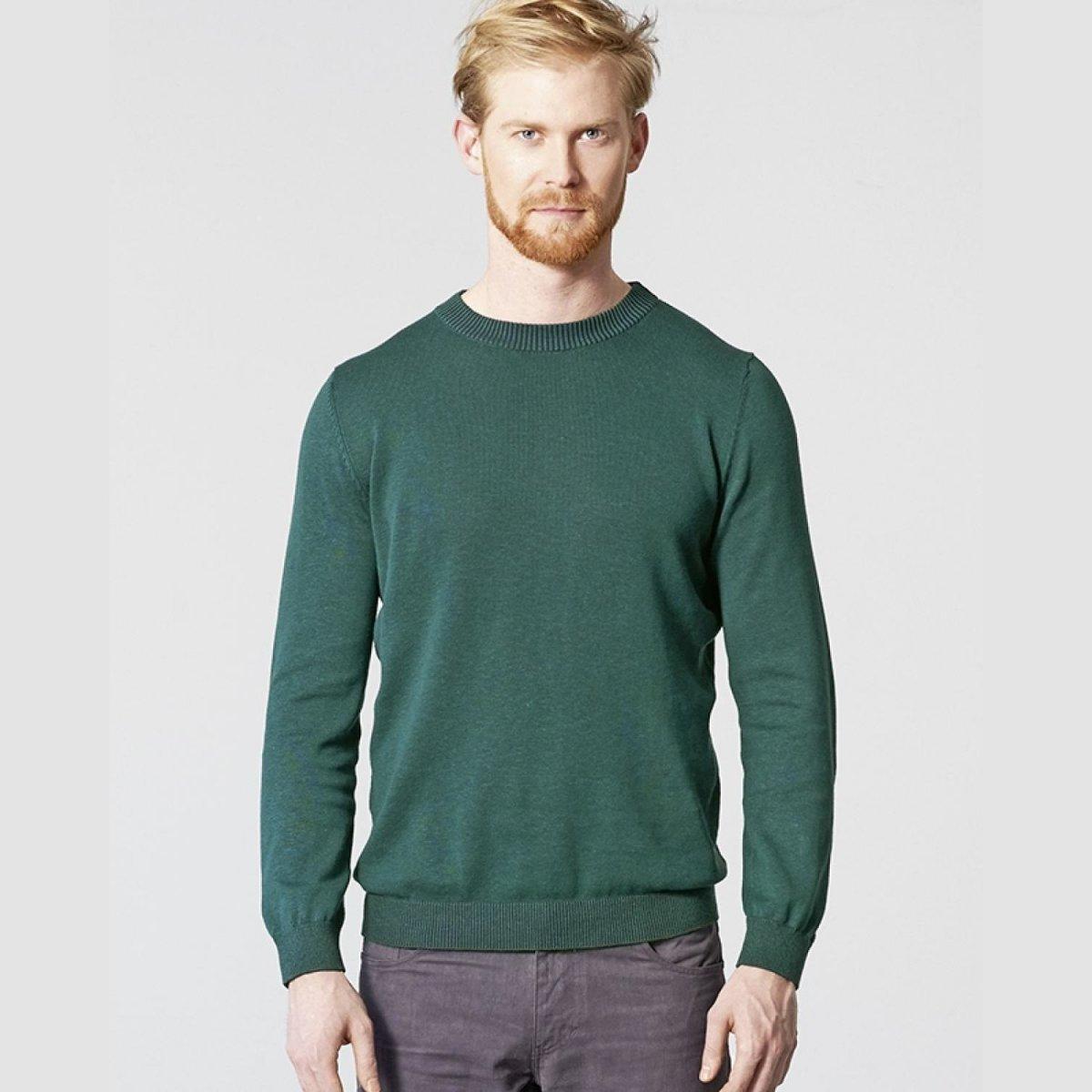 Pullover uomo a maglia in canapa e cotone biologico
