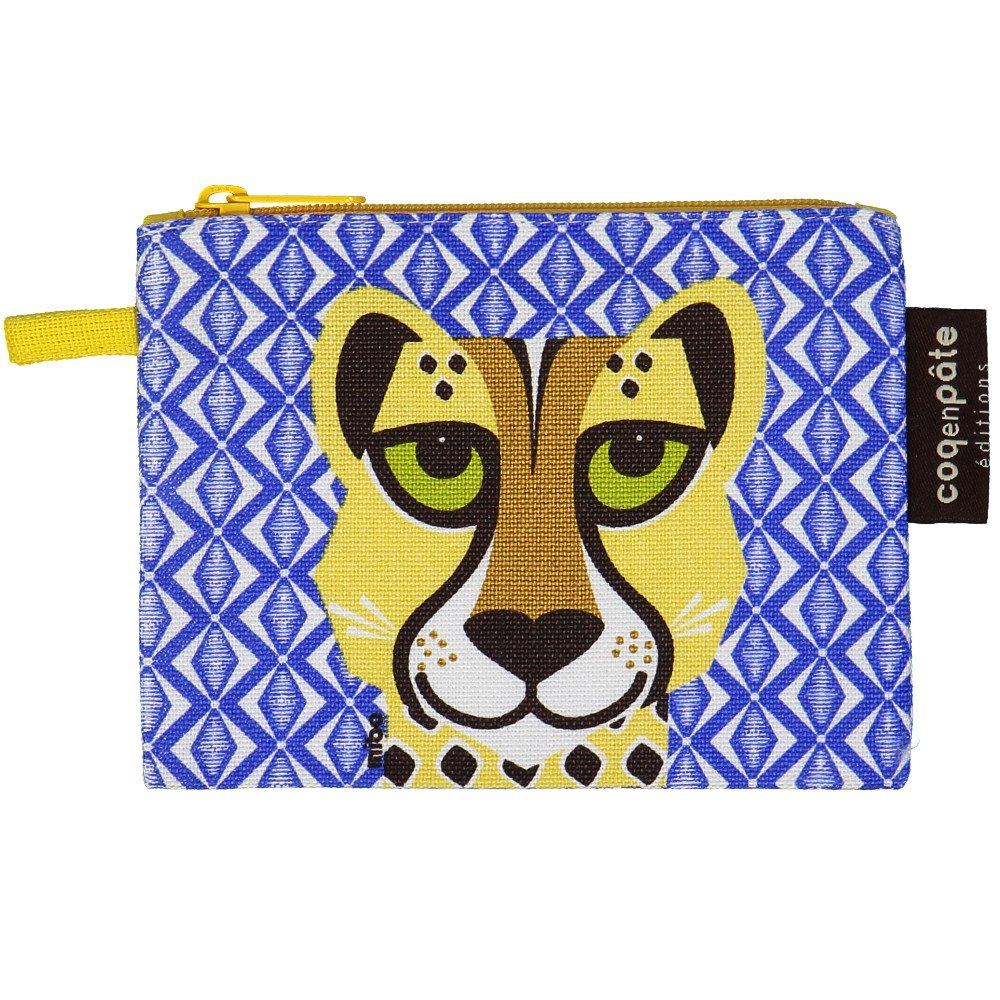 Purse Mibo Cheetah in organic cotton