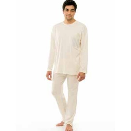 Pyjama for men in organic cotton interlock