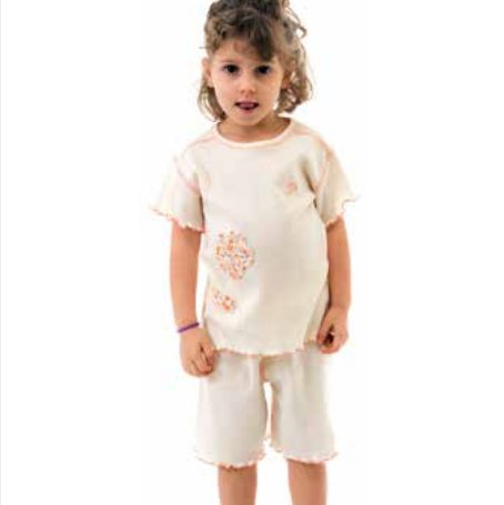 Pyjamas for girl in organic cotton