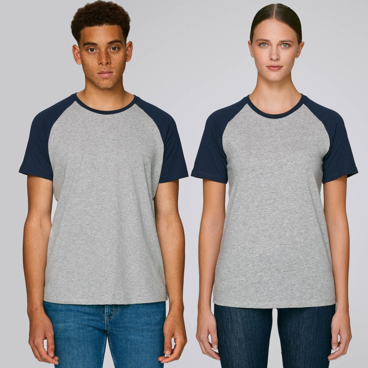 Raglan sleeve t-shirt Baseball in organic cotton