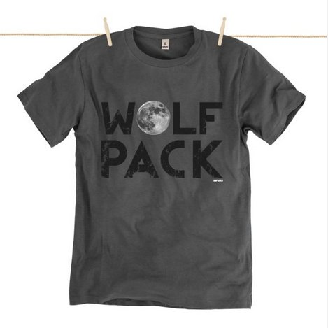 Rapanui T-shirt Wolf Pack uomo in cotone bio