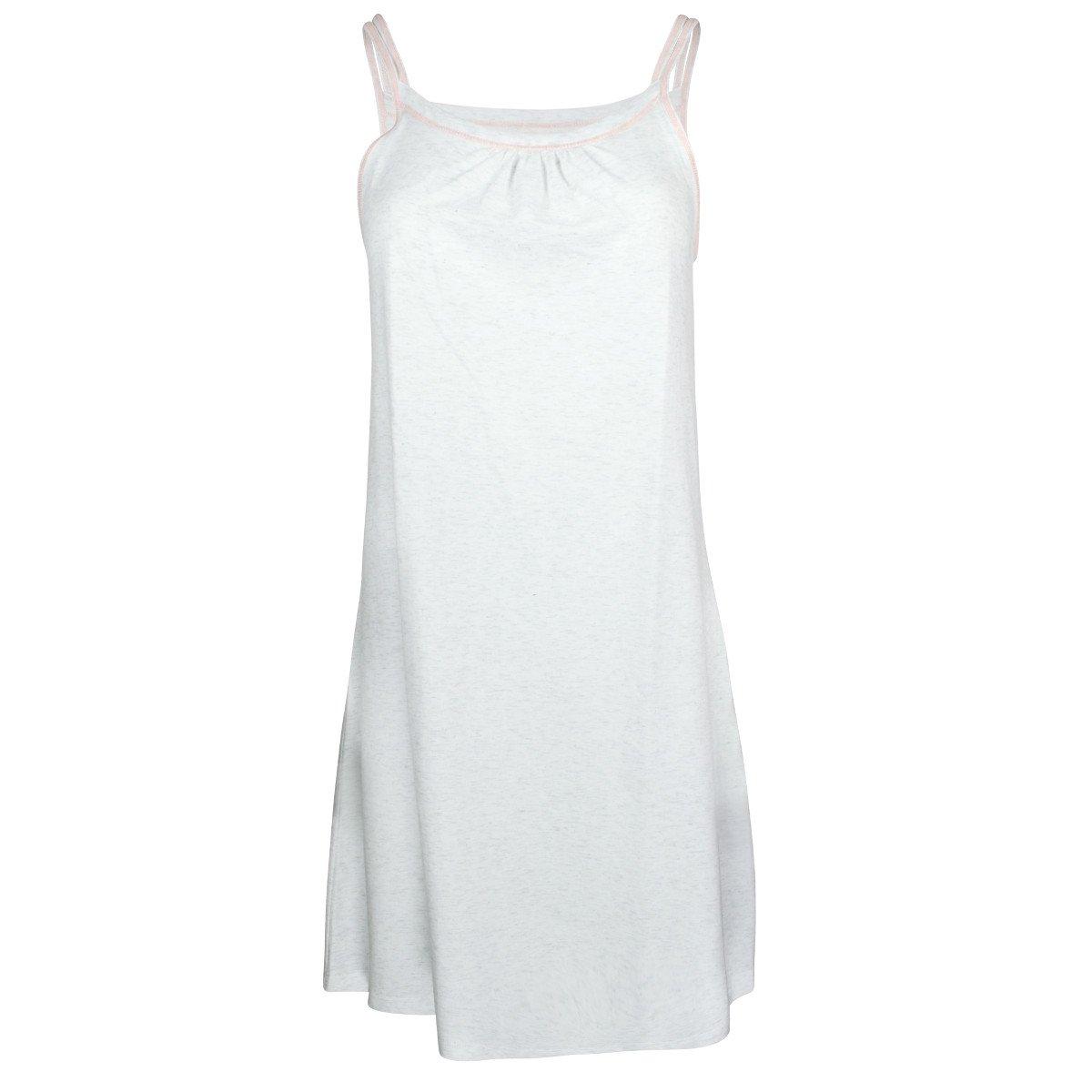 Camicia da notte con spallini in cotone bio-equo