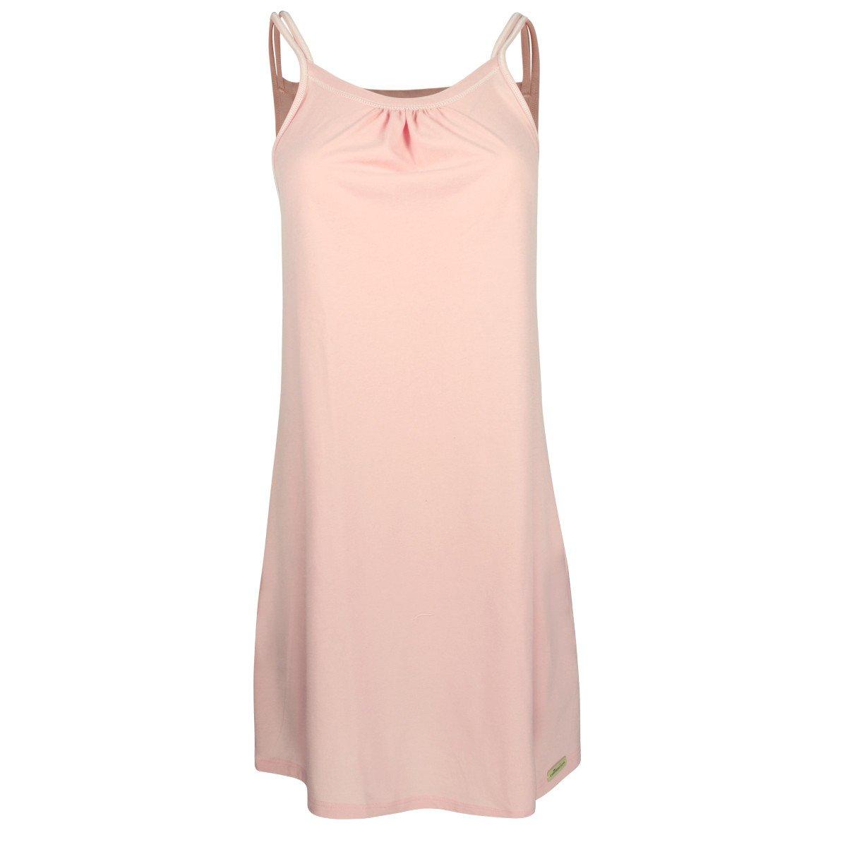 Camicia da notte con spallini Rosa in cotone bio-equo