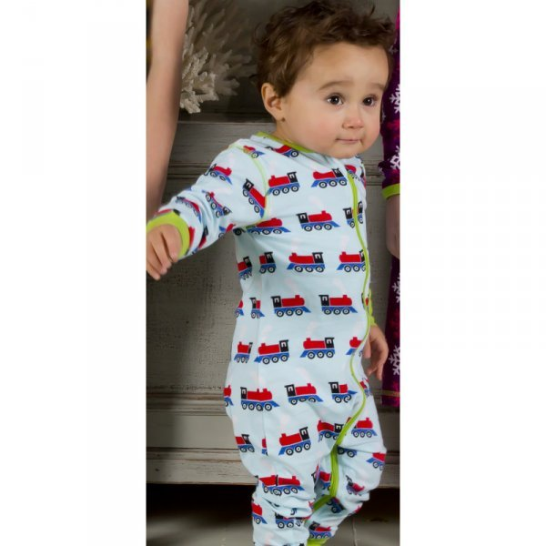 Rompersuit Train in organic cotton