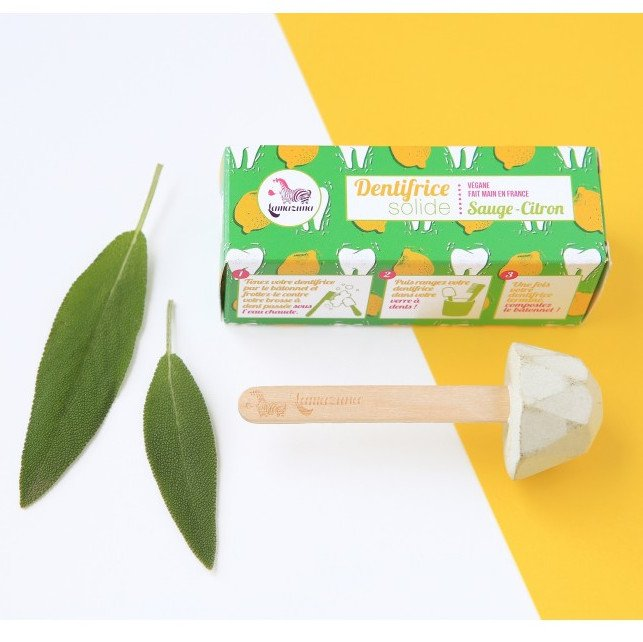 Sage and Lemon solid toothpaste