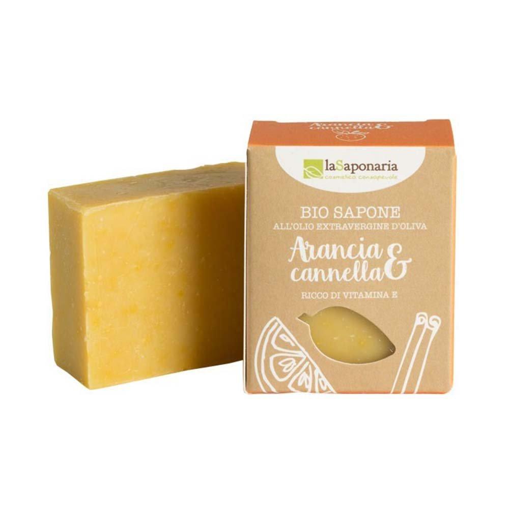 Sapone bio all'olio extravergine d'oliva  Arancia e Cannella - antiossidante