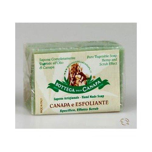 Sapone naturale esfoliante all'olio di canapa bio