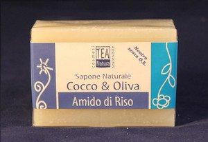 Sapone naturale all'olio di cocco e oliva con amido di riso