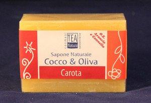 Sapone naturale all'olio di cocco e oliva con carota
