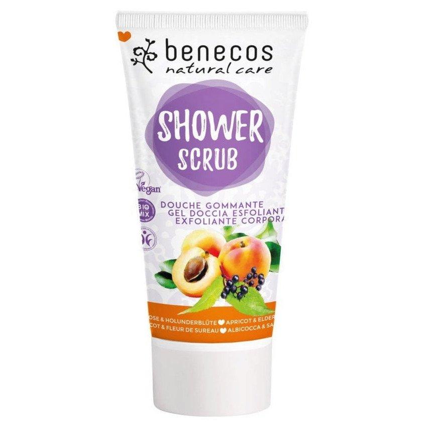 Scrub doccia albicocca e sambuco Benecos