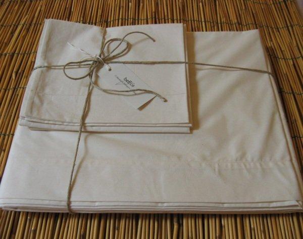 Lenzuola letto Singolo in cotone biologico, set 3 pezzi