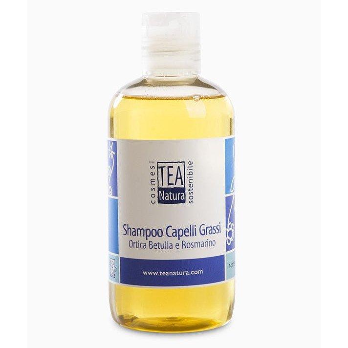 Shampoo capelli grassi Ortica Betulla Rosmarino Tea Natura