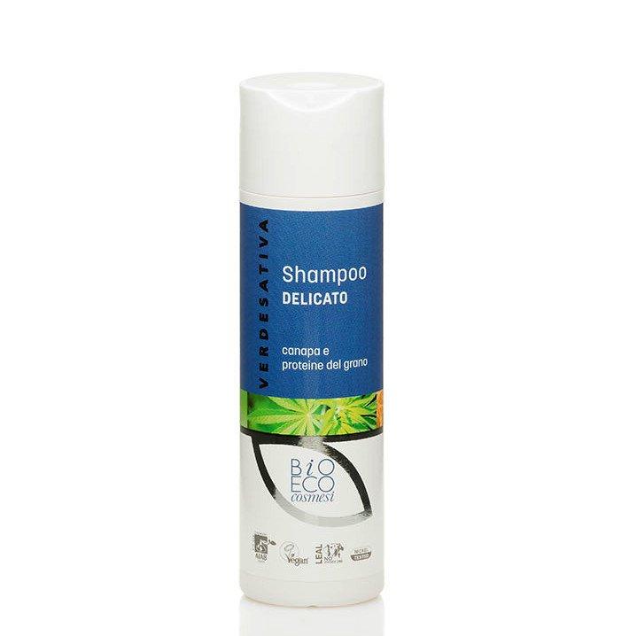 Shampoo delicato uso frequente Canapa e proteine del grano