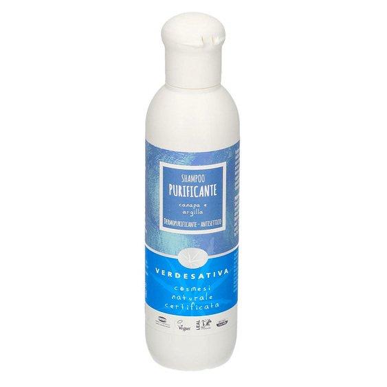 Shampoo purificante Canapa e Argilla BioVegan capelli grassi e forfora