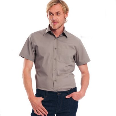 Shirt short sleeve in organic cotton