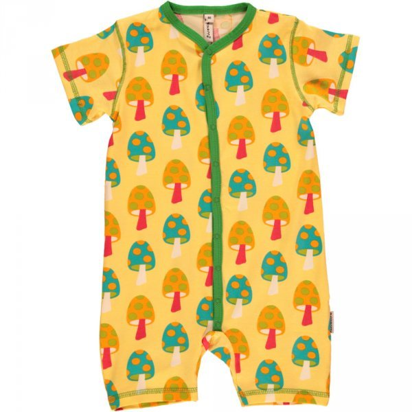 Rompersuit Mushrooms in organic cotton