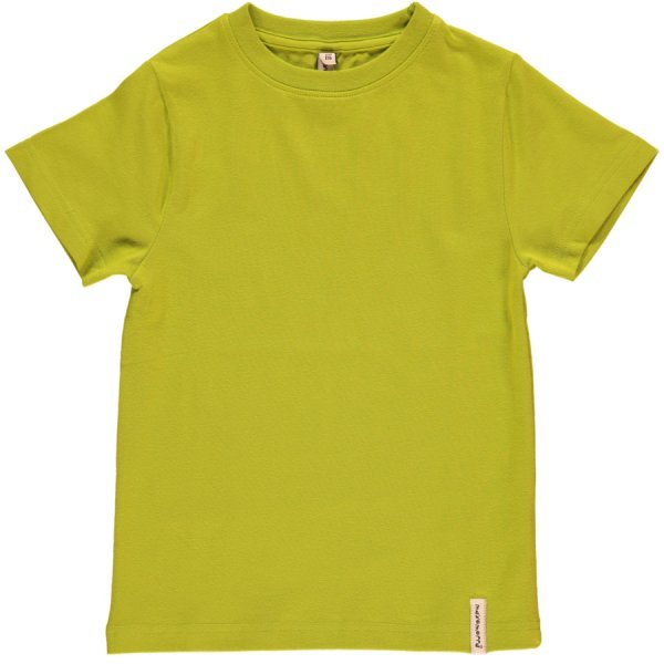 Short sleeve shirt bright Green in organic cotton