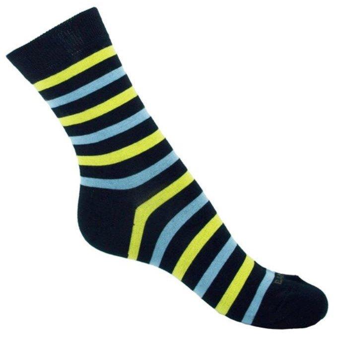 Short Sock Bamboo Navy striped