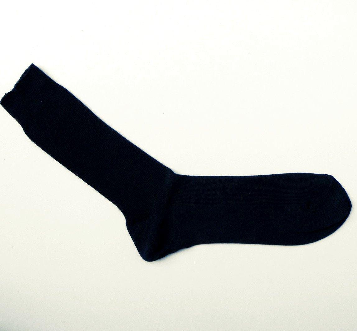 Short socks blue navy in organic cotton