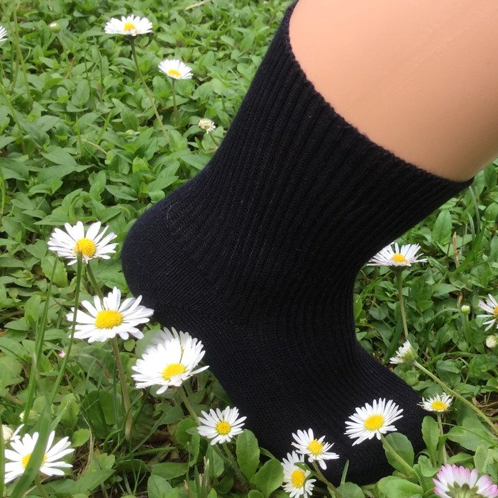 Short socks in dyed organic cotton