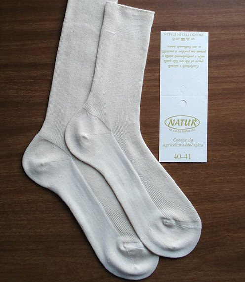 Short socks in natural organic cotton