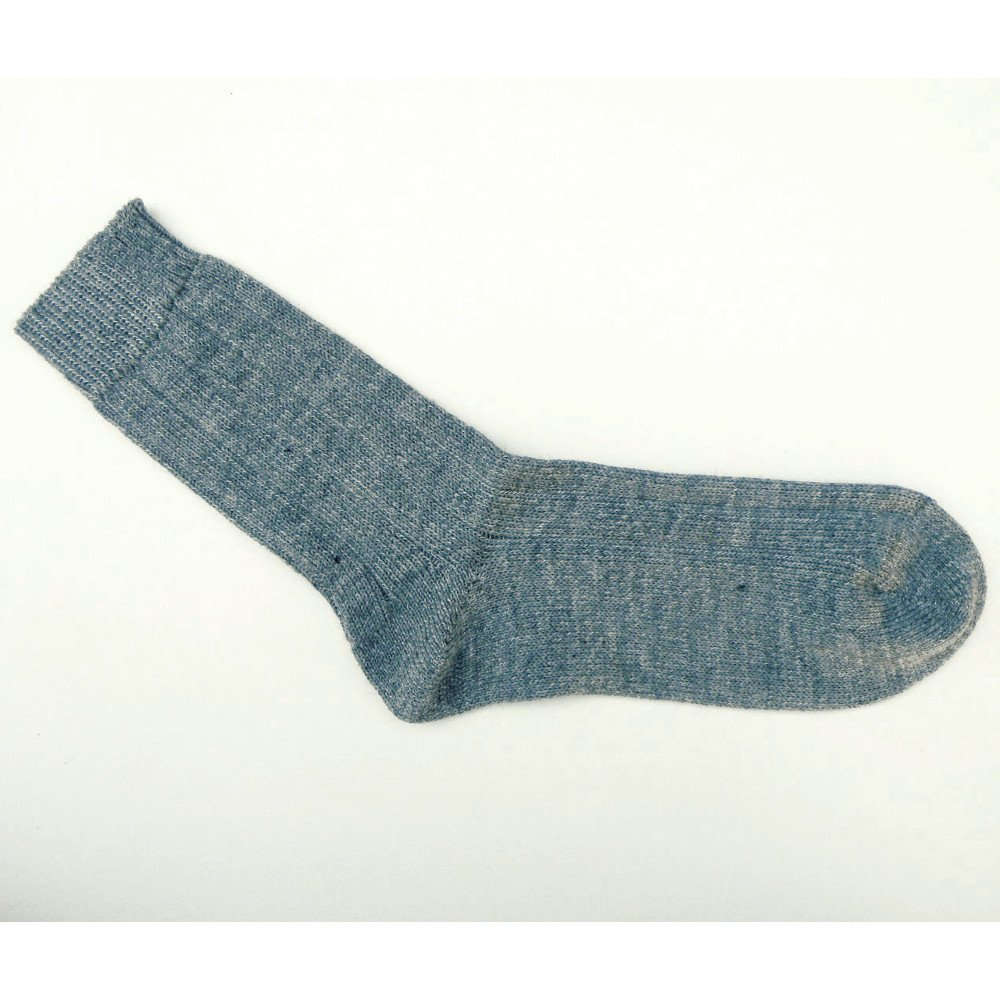 Short socks in natural wool and organic cotton