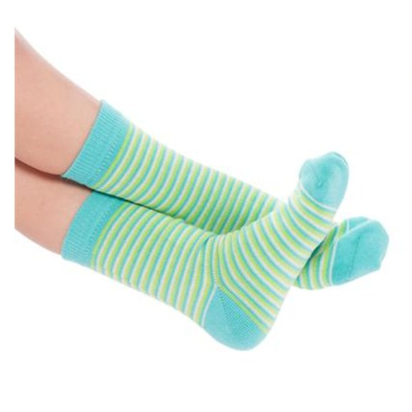 Short socks Lime in organic cotton
