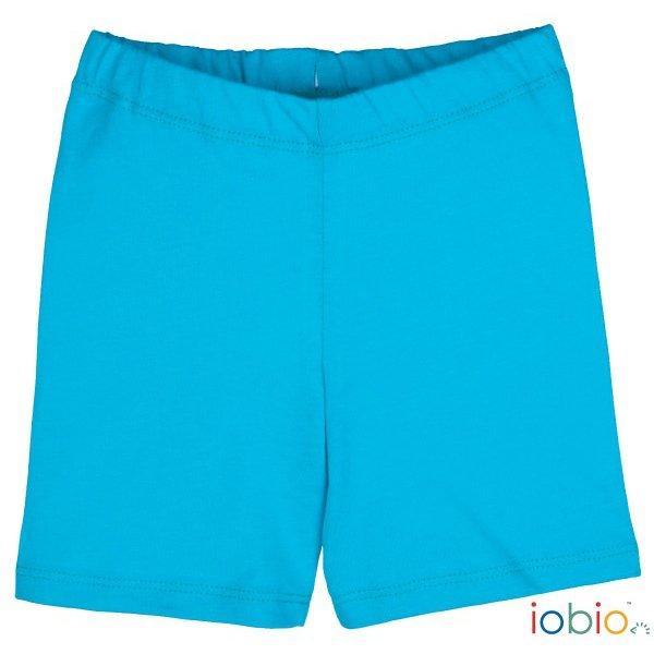 Shorts Popolini turquoise in organic cotton