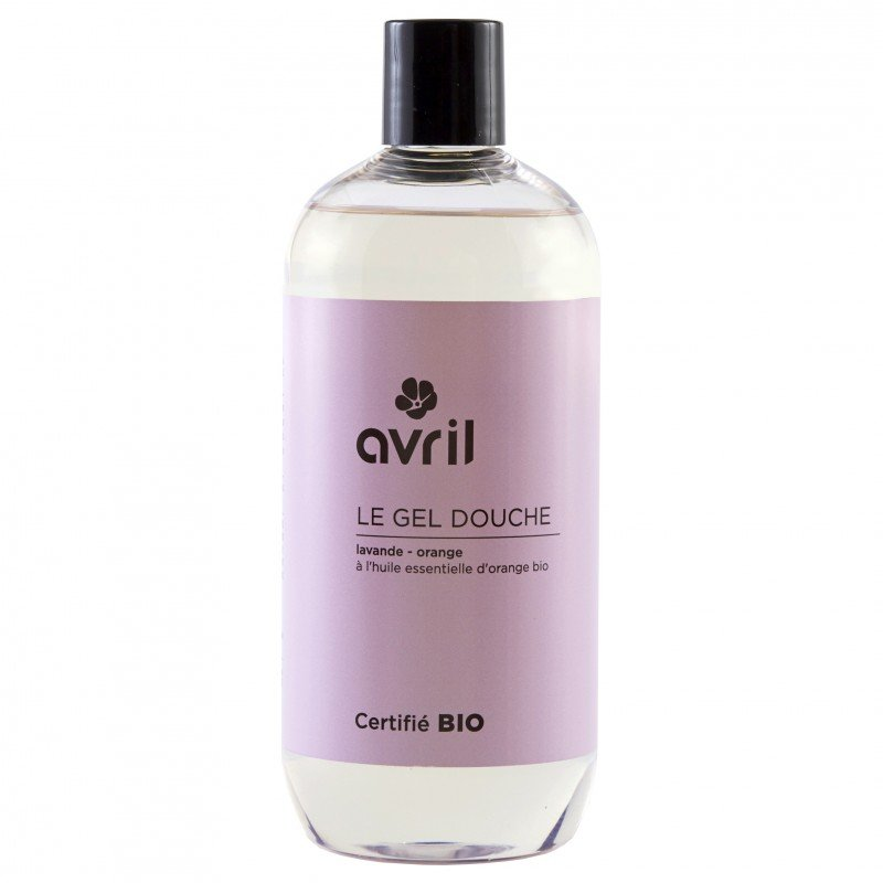Shower gel lavander and orange organic  Avril