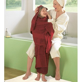 Shower towel in organic cotton