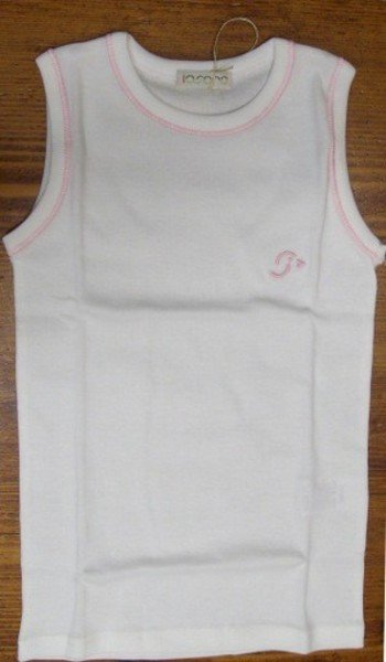 Singlet with wide shoulder and pink thread