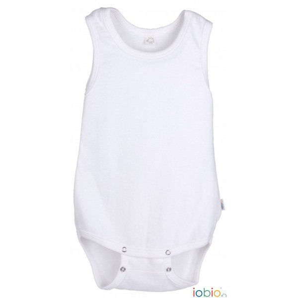 Bodysuit Popolini sleeveless in organic cotton