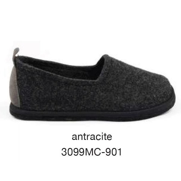 Slipper Glee Anthracite in felted wool