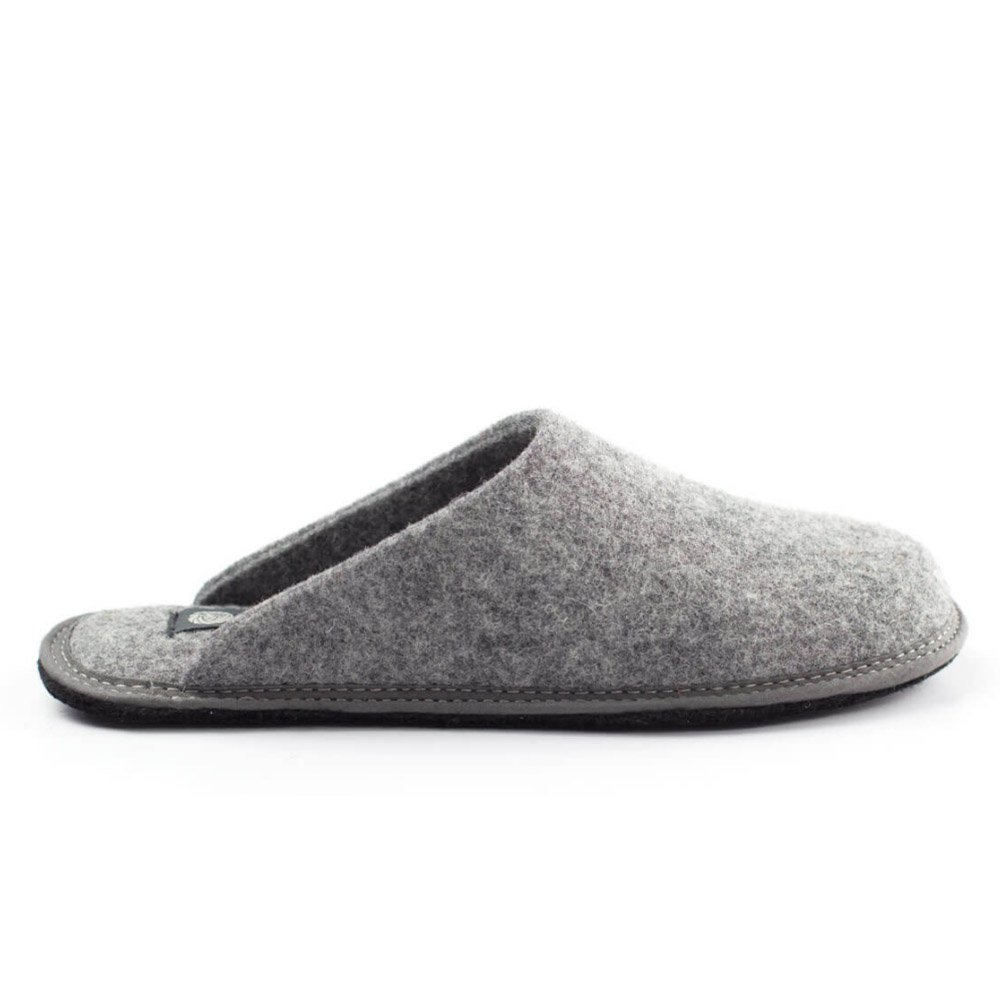 Slipper gray Holy in felted wool