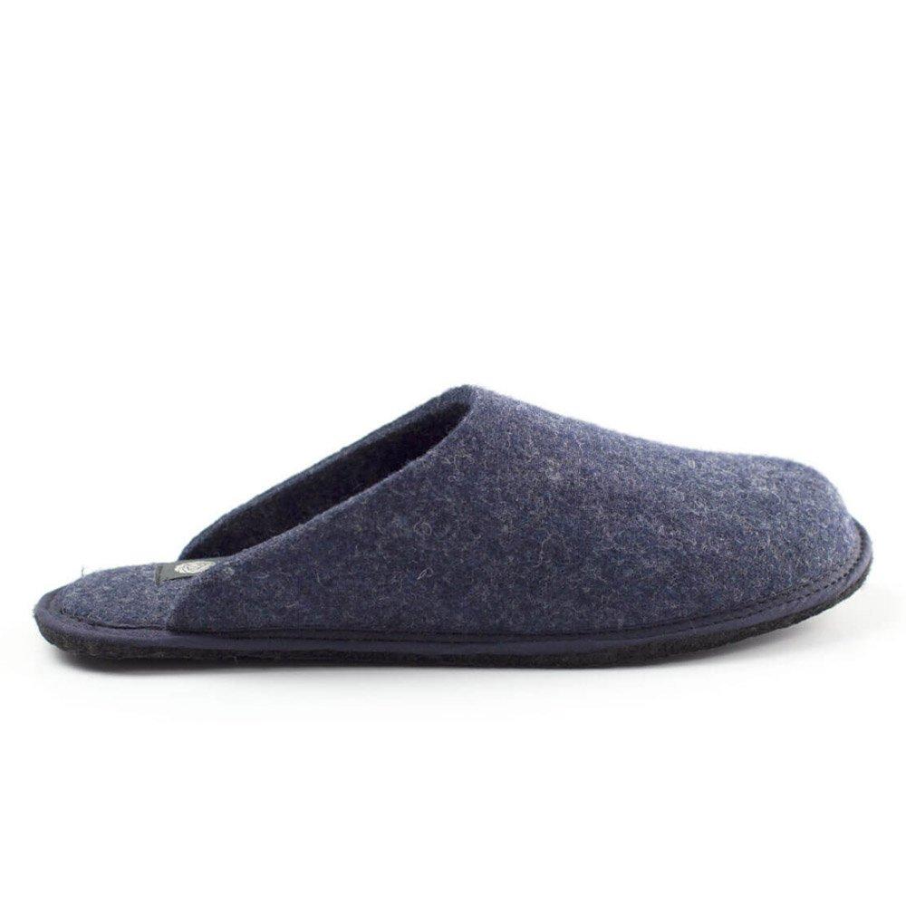 Slipper denim Holy in felted wool